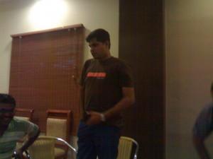 Trinadh Rao in Chennai Web Analytics Event