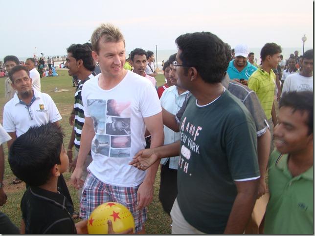 Praveen with Australian Cricketer Brett Lee