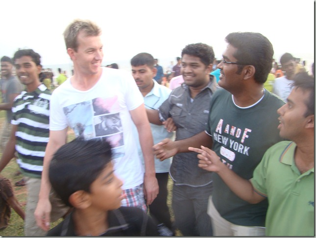 Meeting Australian Cricketer Brett Lee