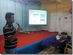 Praveen talking about Android